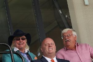 Owen Oyston sat next to Port Vale owner Norman Smurthwaite during the pre-season friendly last year