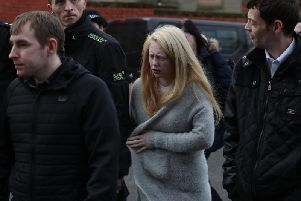 Georgina Lochrane, the mother of Alesha MacPhail, leaves the High Court in Glasgow following sentencing of 16-year-old Aaron Campbell who murdered Alesha MacPhail on Bute in July 2018.
