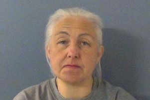 Hannegret Donnelly, 55, from Aylesbury, who has been convicted at Kingston Crown Court for the murder of her husband, Christopher Donnelly, who she systematically abused including hitting him with a rolling pin.