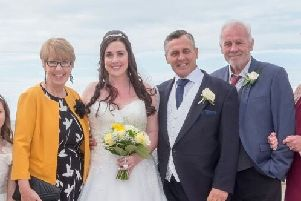 Mr Bevan, centre right, with his beloved wife Joanne, sister Julie and brother Stephen
