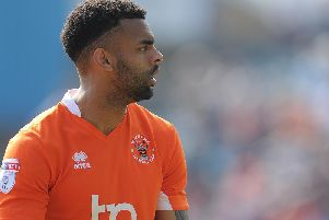 Curtis Tilt is one of five players to return to Blackpool's line-up
