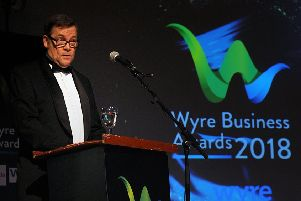 Garry Payne presenting at last year's ceremony