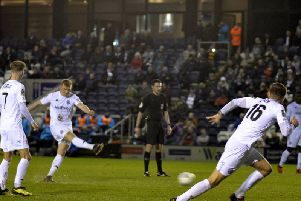 Danny Rowe equalises for Fylde with his 26th league goal of the season  Picture: STEVE MCLELLAN