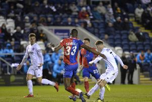 James Hardy tries a shot but it wasn't Fylde's night in front of goal against Dagenham and Redbridge Picture: STEVE MCLELLAN