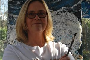 Sukie Woodhouse, St Annes artist who is creating paintings using plastic waste to highlight plastic pollution