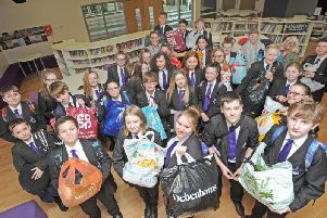 Year 8 pupils at Aspire Academy have been gathering clothes and food for Care and Share to help the homeless and the needy