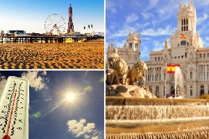 The weather in Blackpool today is set to be brighter and warmer than of late, reaching temperatures as hot as those in Madrid.
