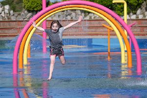 Seven-year-old Annabelle Fitton enjoying the Splash! water park