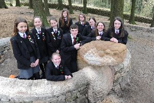 Pupils from Cardinal Allen Catholic High School raised money to help towards the cost of the new stone snake at Beacon Fell Country Park.