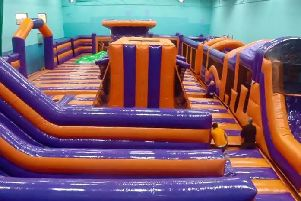 Inside the new Inflate and Play arena which has opened in Blackpool at the Play Football Blackpool site near Aspire Academy