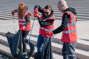 Great British Spring Clean (GBSC), with a team from Coca-Cola European Partners (CCEP)