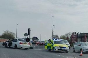 The crash happened at the junction of Preston New Road and Mythop Road in Blackpool.