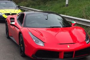 The Ferrari stopped on the M6