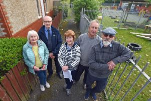 Residents are unhappy with the closure of the footpath and want to be given keys to the gates