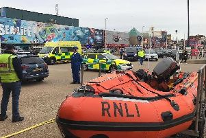 Lifeboat crews were called out at 3.25am (Monday, May 20) after a person had been spotted in the sea near the Metropole Hotel in Blackpool.