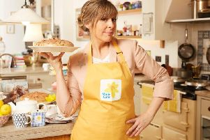 Mel Giedroyc is backing Marie Curie's Blooming Great Tea Party