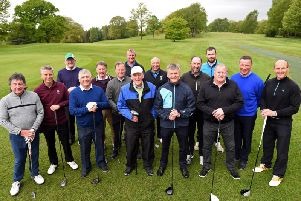 Former footballers from Blackpool, PNE, Wigan and Bolton take part in a golf tournament at Shaw Hill Golf Club