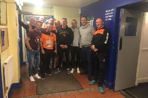 The team of riders were looked after at Solihull Moors FC yesterday