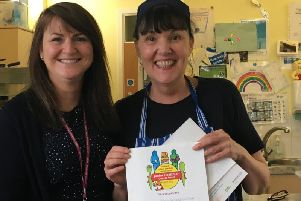 Mereside Children's Centre was presented with the Junior Healthier Choices Award