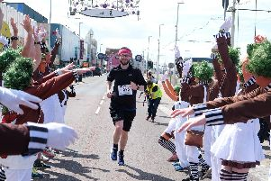Runners were treated to an Oompa Loompa disco to send them off with a smile