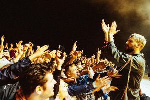 Liam Fray thanks the crowds at Courteeners Heaton Park gig