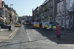 Police activity on Charnley Road this morning. Picture by Coun Walsh