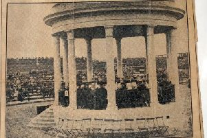 How The Gazette reported the opening  of the Bandstand in 1929
