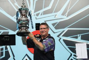 Gary Anderson will defend his Betfred World Matchplay crown in Blackpool  Picture: LAWRENCE LUSTIG / PDC