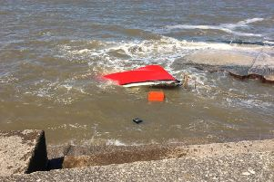 Picture of the stricken boat by HM Coastguard Fleetwood