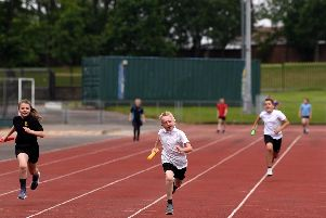 Primary school athletics at the Blackpool Youth Games