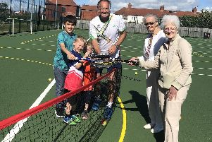 Steve Riley is offering community tennis sessions for all ages on the redeveloped courts at Highfield Leadership Academy
