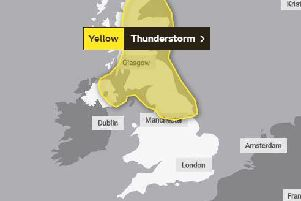 The Met Office have issued a yellow weather warning for Northern England, Scotland, and parts of Northern Ireland.