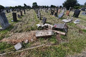 Destruction of graves and headstones at Marton Burial Ground