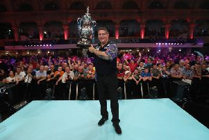 Gary Anderson will return to the scene of his 2018 Winter Gardens triumph Picture: LAWRENCE LUSTIG / PDC