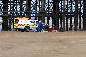 A casualty was recued and taken to hospital. Credit: Lytham Coastguard