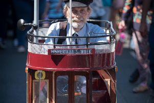One of the participants in a previous SpareParts parade on Tram Sunday in Fleetwood.