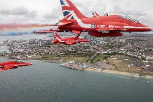 The Red Arrows fly the BAE Systems-built Hawk