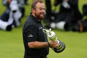 Shane Lowry with the Claret Jug