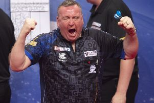 Glen Durrant continued his fine tournament with victory over James Wade      Picture: Lawrence Lustig/PDC
