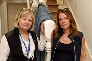 Angelica Ashbrook and Janine Corcoran from The Jordan Corcoran Legacy Project are devastated after thieves ripped up copper pipes in their hotel causing water to flood the building.