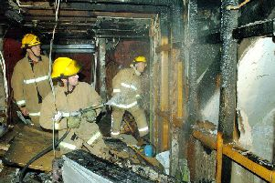 The property was badly damaged in a fire in 2004