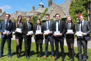 A Level students at Kirkham Grammar.