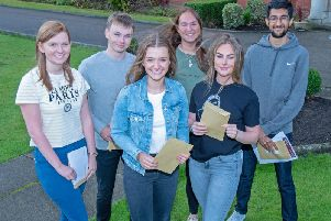 AKS Lytham students celebrate their results.