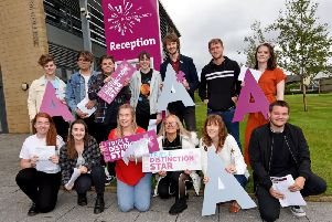 Blackpool Sixth Form students receive their A Level results