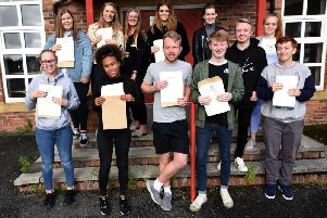 Students from Baines Sixth Form receive their A Level results