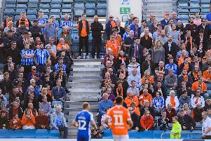 308 Blackpool fans made the trip to Gillingham