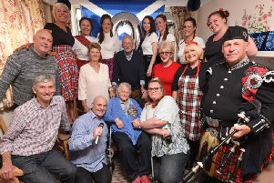 Betty Charnley celebrates her 101th birthday at The Royal Care Home in St Annes. .