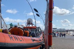 A lifeboat was scrambled to help in the hunt for a missing person in the sea at Cleveleys.