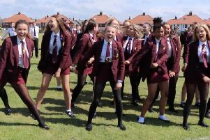 Pupils at Montgomery Academy in Bispham set a new world record for the number of people doing the floss dance at once