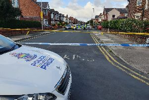 A section of Gorse Road remained taped off this morning